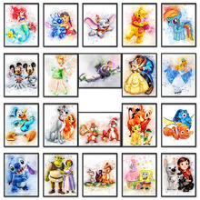 5D Diamond painting Cartoon Mickey Mouse dog Full Round mosaic Square embroidery Cross stitch Winnie Pooh #