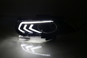Image 4 - Car Flashing 2PCS For Ford Mondeo Fusion 2013 2014 2015 2016 Car DRL 12V LED Daytime Running Light With Turn Yellow Signal Relay