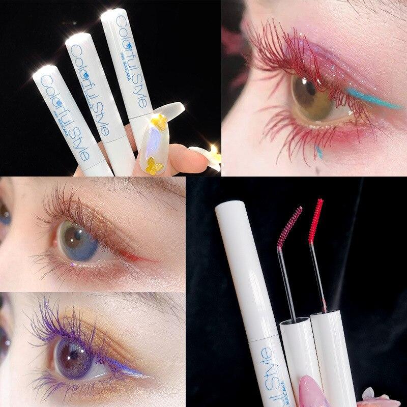 Novo uso duplo moda preto cílios rímel ondulação grosso à prova dwaterproof água cílios postiços maquiagem rímel fino