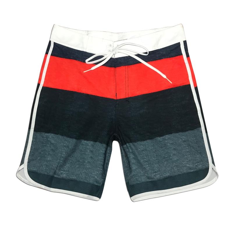 Hot Sale Beach   Board     Shorts   Quick Dry Summer Mens Siwmwear Elastic Liner Briefs Striped Swim Trunks Gym   Shorts   Male Beach Wear