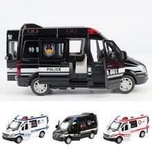 Мини-игрушечный металлический звуковой светильник для скорой помощи, Полицейская машина, подарок для детей, улучшает распознавание цвета