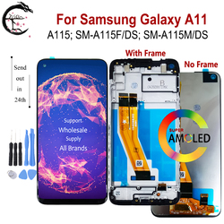A115 ЖК-дисплей с рамкой для Samsung Galaxy A11 2020 ЖК-дисплей SM-A115F/DS A115F сенсорного экрана с дигитайзером в сборе модуль 6,4