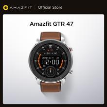 [Склад в России] Amazfit GTR 47 мм Смарт-часы 24 дня управление музыкой 5ATM водонепроницаемые Смарт-часы кожаный силиконовый ремешок
