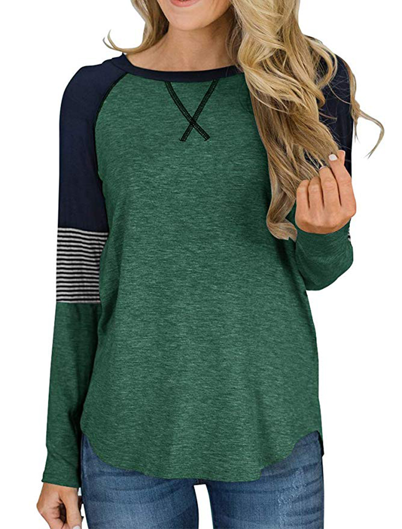 Hot Sale Long Sleeve Shirt Women Autumn Winter Round Neck Casual Loose T-shirt Women Tops Fashion Ladies T-shirt Clothes 2019 (12)