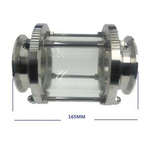 """Image 2 - WZJG yeni 3 """"üçlü kelepçe geçme burç tipi akış gözetleme camı diyoptri Homebrew için süt ürünü paslanmaz çelik SS304 yüksük OD 91mm"""