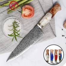 Grandsharp 7.6 Inch Chef Knife Damascus Steel VG 10 Sharp Cleaver Paring Vegetable Meat Wood Handle Household Kitchen Knives New