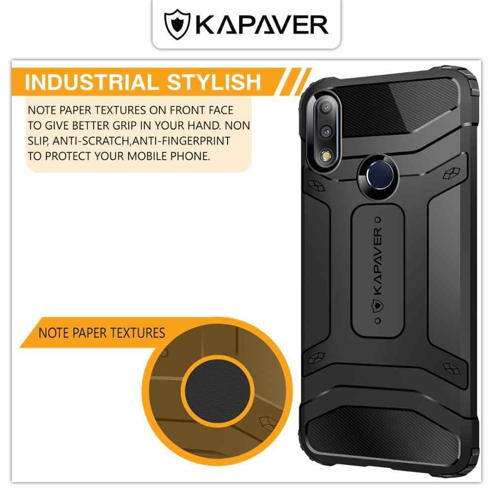KAPAVER יוקרה הרשמי סיליקון טלפון מקרה עבור Asus Zenfone מקסימום פרו (M2) ZB631KL זרוק נבדק הלם הוכחת פחמן סיבי שריון