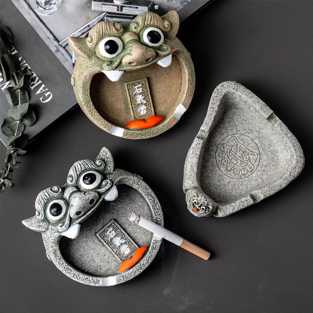 Creative  Resin Smoke Cigarette Ash Tray Crafts Decoration Portable Ashtray Home Outdoor Office Car Boyfriend Gift Home Decor