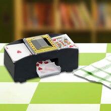 Pro 2-Deck Spielkarten Automatische Kartenmischer Maschine Poker Kartenmischer Hause Turnier Party Spiele Klassische Poker Schlurfen