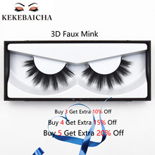 KEKEBAICHA Lashes 3D Faux Mink Eyelashes Natural Glamorous look False Eyelash Makeup Silk Eyelashes Thick Fake Eyelashes Lashes