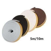 1 Pc 5/10M Zelfklevend Seal Strips Foam Diepgang Excluder Raam Deur Geluiddichte Anti Collision Stofdicht Voor hardware Gereedschap