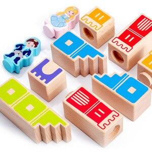 Image 2 - Montessori Camelot Jr Houten Bouwstenen Speelgoed Prince Besparen De Prinses Interactieve Spelletjes Voor Kinderen 3d Blokken Kerstcadeaus