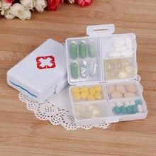 1 шт. пластиковые 7 дней складные мини таблетки аптечки коробка для лекарственных средств для хранения таблеток Чехол для путешествий держатель Контейнер