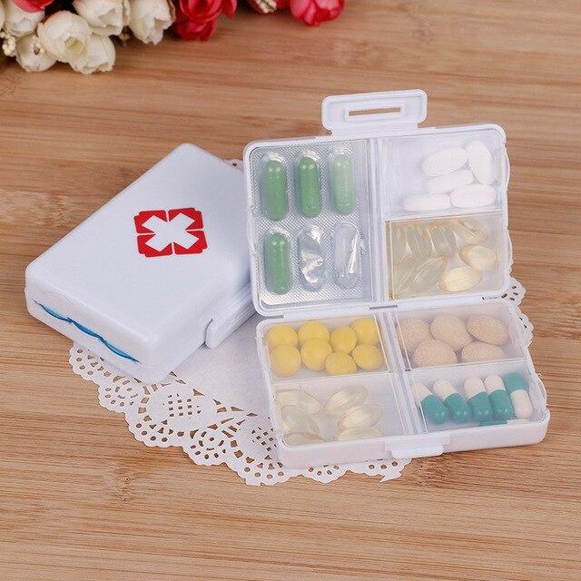 1Pc פלסטיק 7 ימים מתקפל מיני גלולת העזרה הראשונה ערכות קופסא תרופות Tablet אחסון נסיעות מקרה מחזיק מיכל