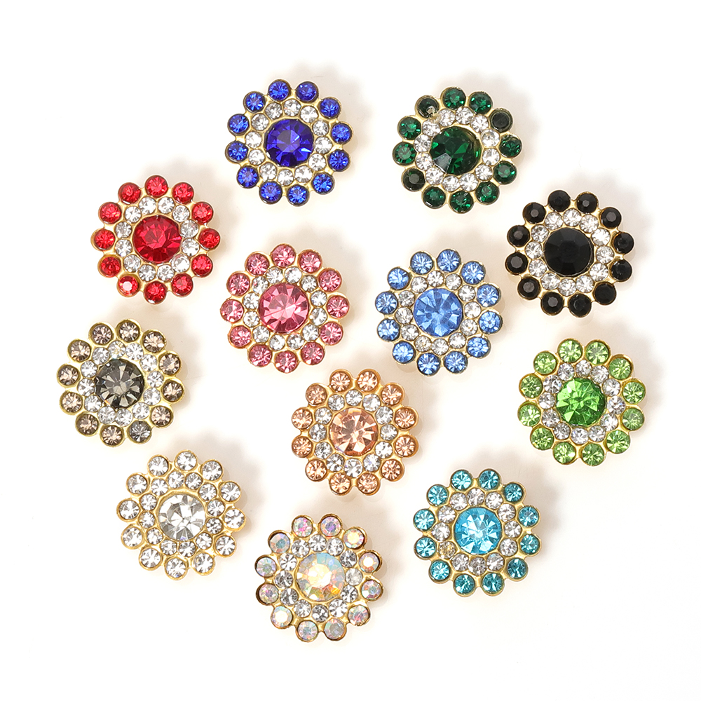 50pcs 14mm Multicolor Rhinestone Cabochons Beads Crystal Bezel Patch DIY Needlework Handmade Bows Accessories For Jewelry Making(China)