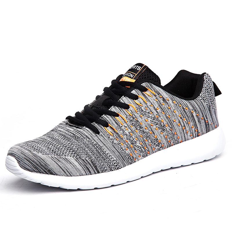 2020 Men Shoes Lightweight Comfortable Mens Casual Shoes Breathable Mesh Sneakers Men Lace-up Fashion Non Slip Big Size 46