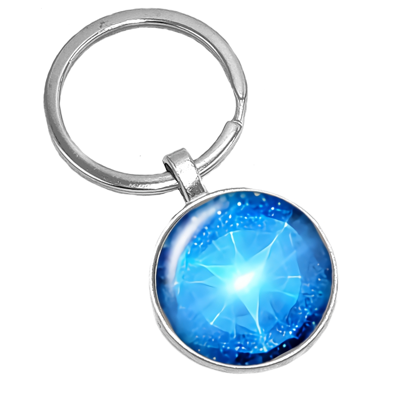 HOT 2019 New Fantasy Ocean Kaleidoscope Pattern Series Glass Cabochon Keychain Popular Jewelry Gift in Key Chains from Jewelry Accessories