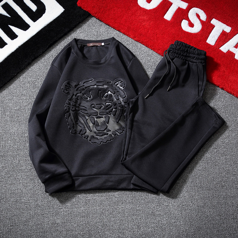 Fashion Two Piece Set Crewneck Sweatshirt Pants Hoodies For Couples Men And Women Tracksuits With Pants O-Neck Long Sleeves