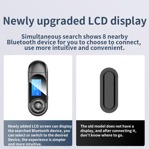 Image 4 - DISOUR USB Bluetooth 5.0 Adapter 5 IN 1 Wireless Audio Receiver Transmitter LCD Display 3.5mm AUX RCA Dongle With Mic For TV Car