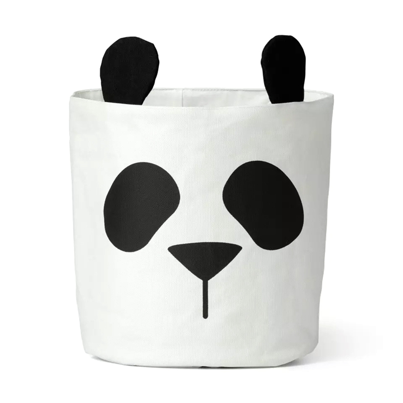 Panda Storage Bag Basket Baby Kids Toy Clothes Canvas Laundry Basket Storage Bag Can Stand Nappy Bin Home Storage Bucket