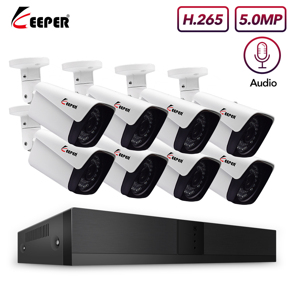 2020 New 8CH 5MP POE-Pro camera Kit 1944P CCTV Camera System 5MP Outdoor Waterproof Camera POE Security Video Surveillance Set
