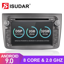 Isudar 1 Din Auto Radio Android 9 para Alfa Romeo Mito 2008-CANBUS coche Multimedia Video DVD GPS Octa core ROM 32GB USB DVR DSP(China)