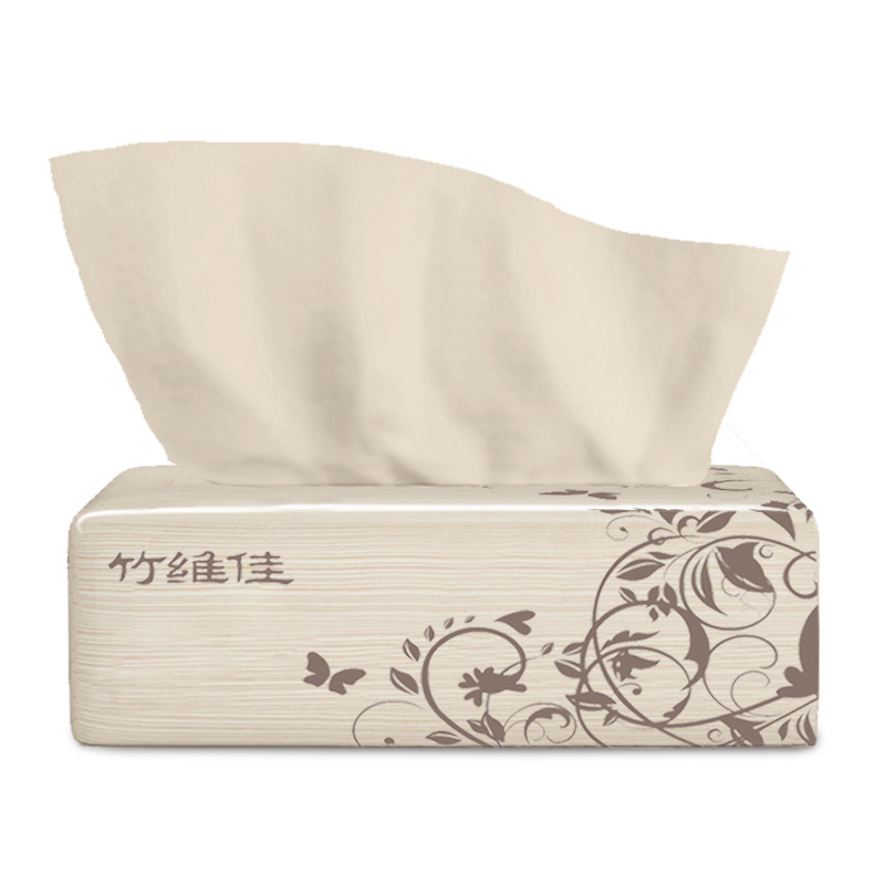 Toilet Tissue 220 Sheets Bamboo Pulp Natural Color Withdrawable Face Towel