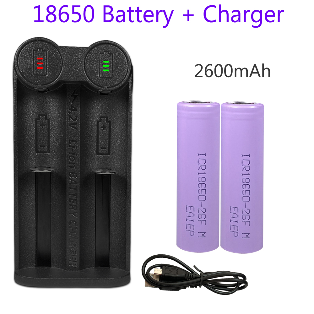 YONII 18650 <font><b>battery</b></font> charger 2 slots charger for 18650,18500,18490,18350,17650,<font><b>16650</b></font>+2pcs 18650 3.7v rechargeable <font><b>battery</b></font> image