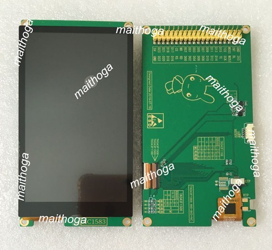 Ips 4.3 Inch 16.7M Spi Rgb Hd Tft Lcd Capacitieve Touch Screenmodule RM68120 Ic 480*800 Parallelle Interface