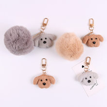 High quality cute teddy dog wool felt keychain airpods bag pendant Japanese ins Korea exquisite gift for good friends(China)