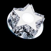 Proste gwiazda LED kryształowy żyrandol nowoczesny jadalnia led u nas państwo lampy oświetlenie wewnętrzne dzienny pokój korytarz kryształ żyrandol lampy led lustre tanie tanio CUOSHE CN (pochodzenie) Klin Brak 110 v 120 v 130 v 220 v 230 v 240 v 260 v 110-240 v 90-260 v Shadeless Montażu podtynkowego
