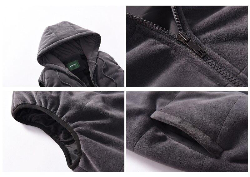 Hoodie Men Set Sports Suit M 4XL Winter Gold Velvet 3 Pieces Sets Tracksuit Men's Plus Size XXXXL Vest + Pants + Sweatshirt - 3