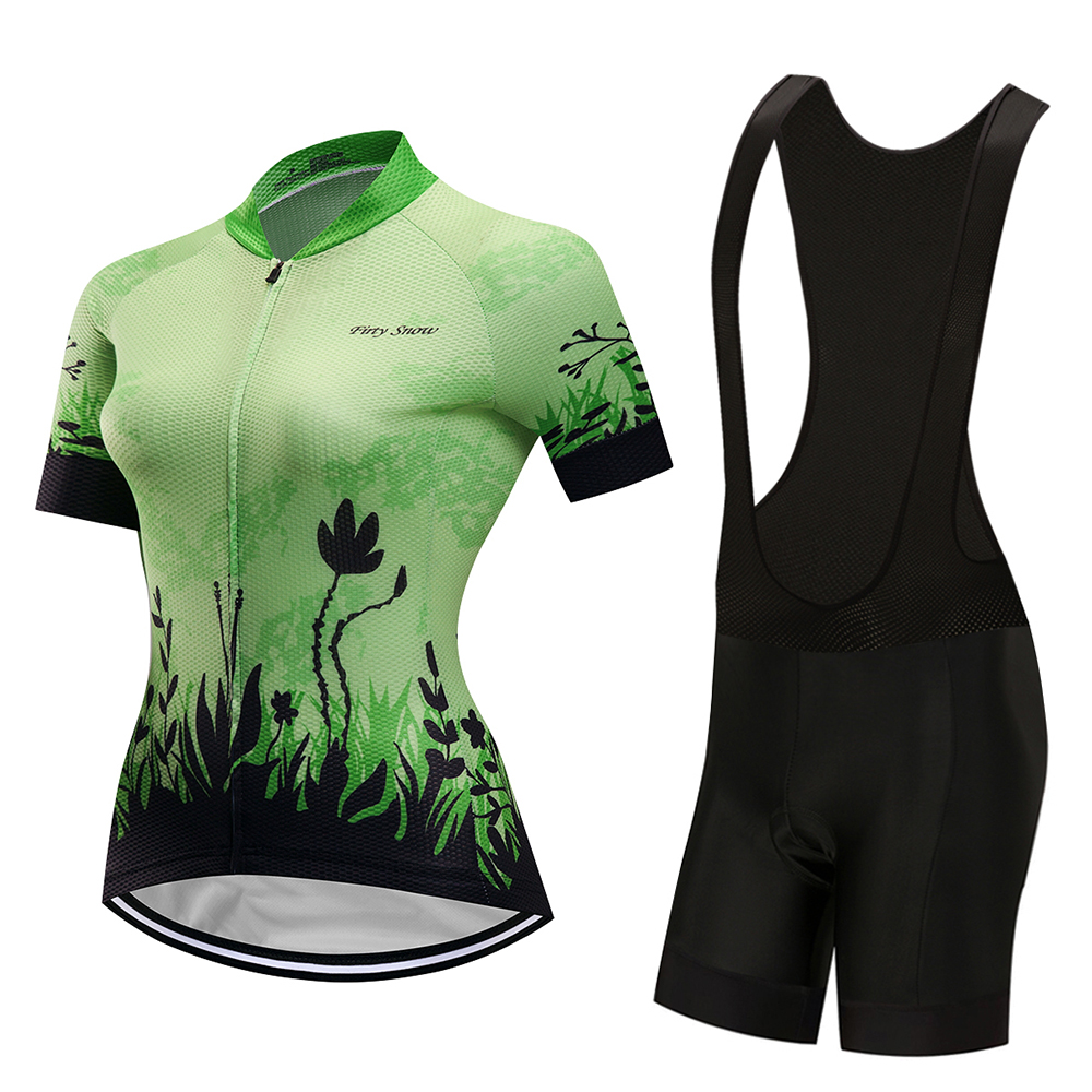 2019 Summer cycling jersey set woman's bib pants gel pad bike clothes suit mtb maillot bicycle clothing kit sports wear uniforme