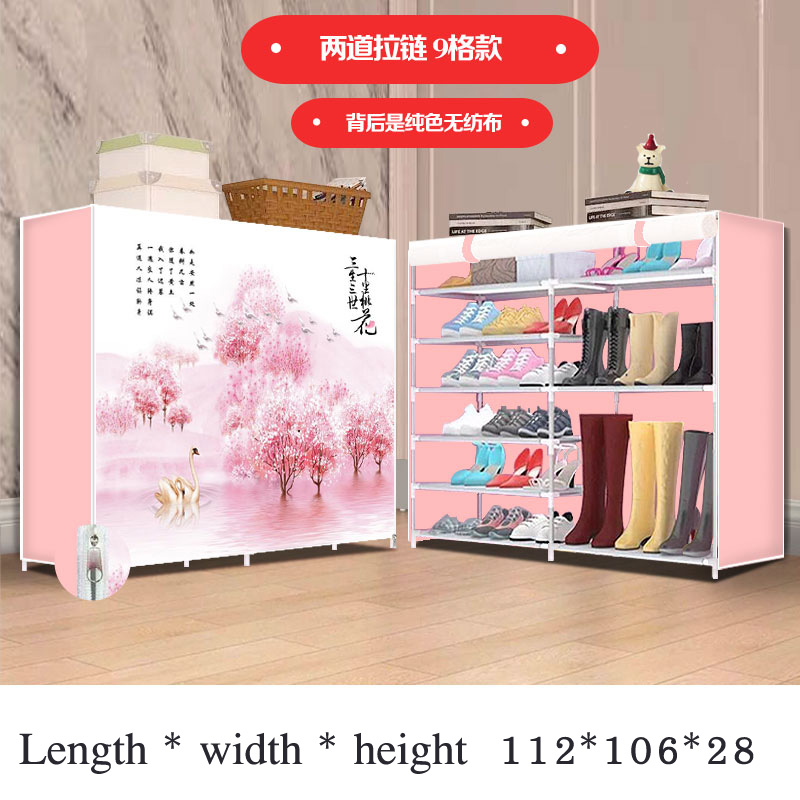 8 Layers 9 Grids Simple Shoe Rack Household Dustproof Assembly Storage Shoe Rack Cloth Shoe Cabinet For Hallway Home Furniture