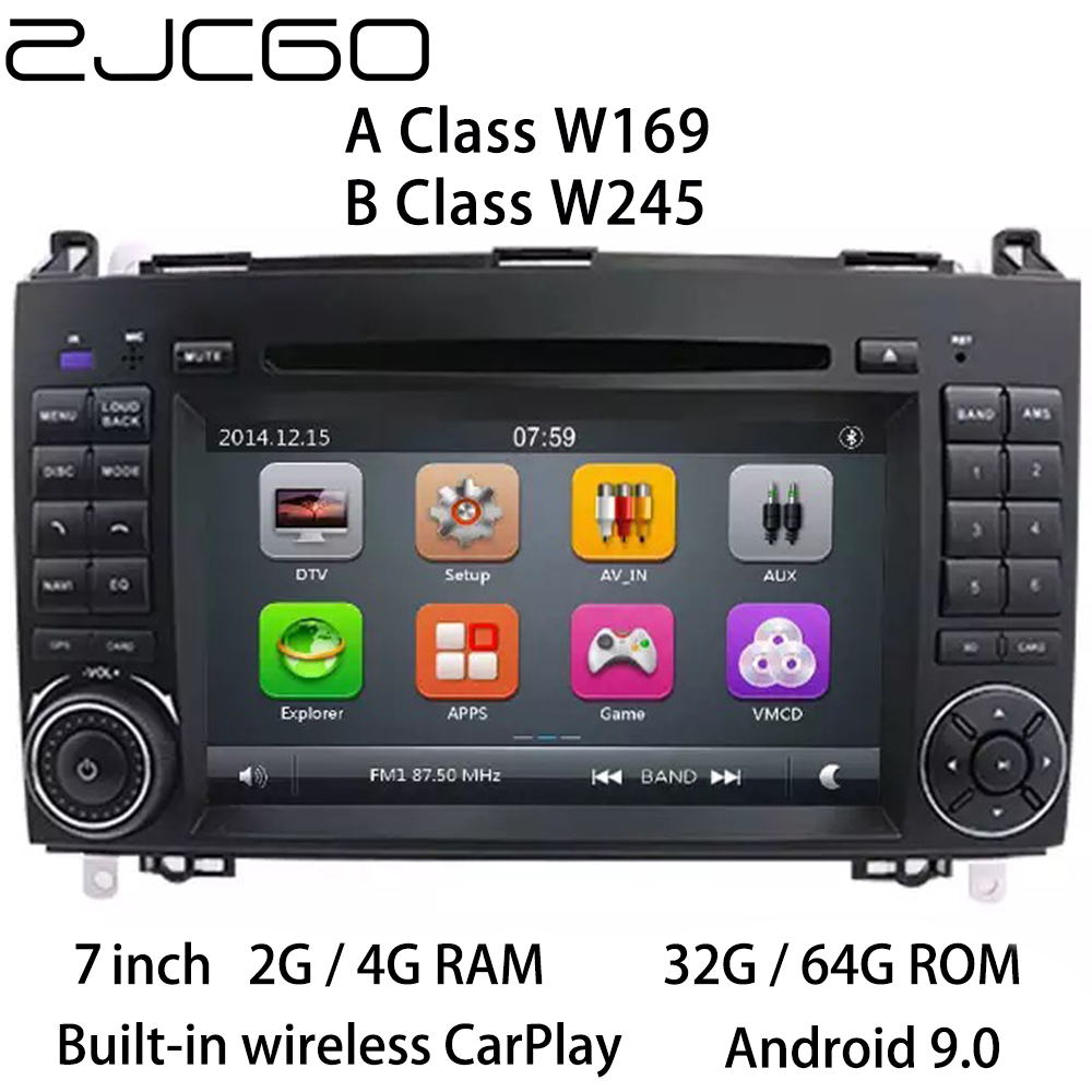 Car Multimedia Player Stereo GPS DVD <font><b>Radio</b></font> Navigation <font><b>Android</b></font> Screen for <font><b>Mercedes</b></font> <font><b>Benz</b></font> A B Class <font><b>W169</b></font> W245 2004~2012 image