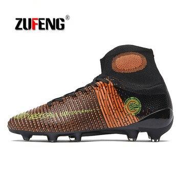 ZUFENG новые мужские футбольные бутсы Chaussure Superfly FG уличные футбольные бутсы высокие футбольные бутсы Профессиональные длинные/TF шипы