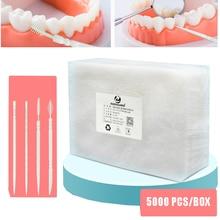 5000PCS Portable Disposable Plastic Toothpicks Teeth Cleaning Dental Flosser Travel Two-Head Floss Sticks Desktop Accessories