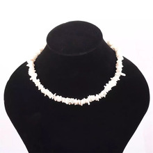 New Sea Style White Color Chic Retro Creative Natural Shell Piece Necklace Childrens Jewelry bijoux femme