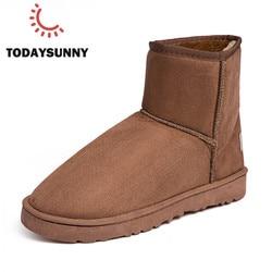Botas dos homens Botas de Neve Casal Rebanho Quente Luz Macho Confortáveis Sapatos de Algodão Botas de Inverno Botas de Mulheres Não-Slip 35 -45 # Buty Meskie