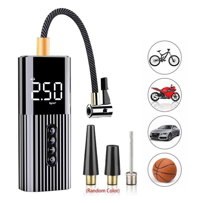 Mini nadmuchiwane przenośne powietrze pompa sprężarki z oświetleniem LED 12V 150PSI drutu pompy powietrza do piłek rowerowych samochodów