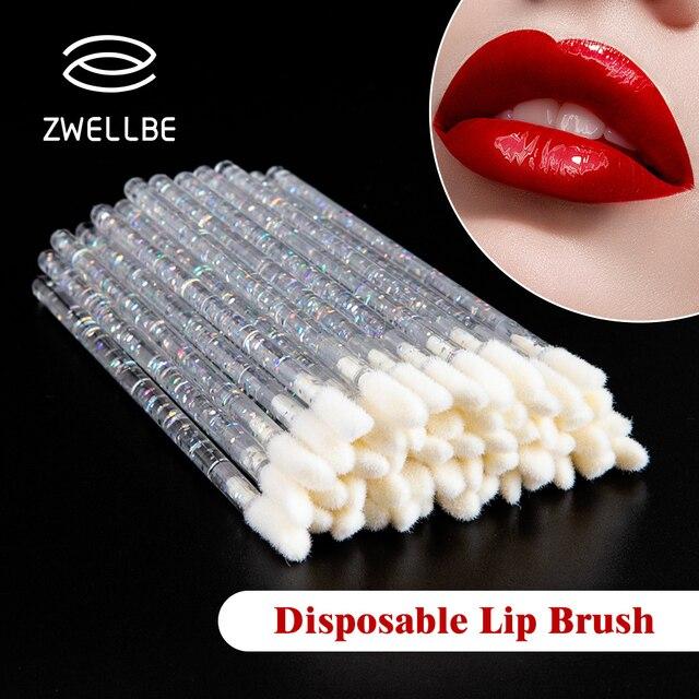 50Pcs Disposable Lip Brush Eyelash Brushes Crystal Lashes Micro Brushes Eyelash Extension Applicator Cleaner Beauty Makeup Tools 5