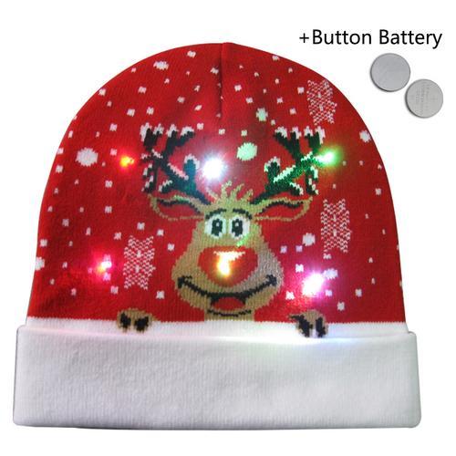 Г., 43 дизайна, светодиодный Рождественский головной убор, Шапка-бини, Рождественский Санта-светильник, вязаная шапка для детей и взрослых, для рождественской вечеринки - Цвет: 28