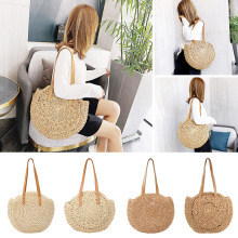 2020 Beach Straw Bag Bohemian Summer Rattan Handbags Travel Women Tote Shoulder Bags bolsos de mimbres paja
