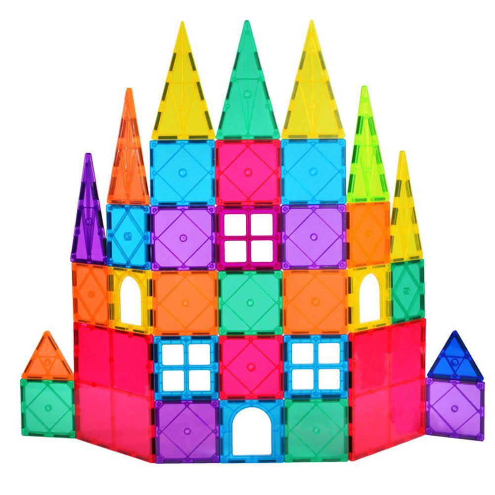 60/120PCS Magnetic Tiles Magnetic Building Blocks Constructor Games DIY Magnet Toy Educational Toys For Kids Gift