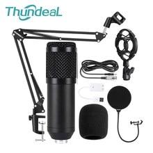 Kit de micrófono con condensador BM800, Micro micrófono de grabación con cable, profesional, bm 800, Karaoke, KTV, para cantar