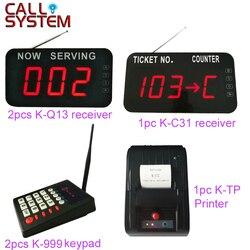 3 dígitos sem fio tomar um sistema de números com a impressora térmica da fila contrária para o dispositivo da gestão da clínica do banco