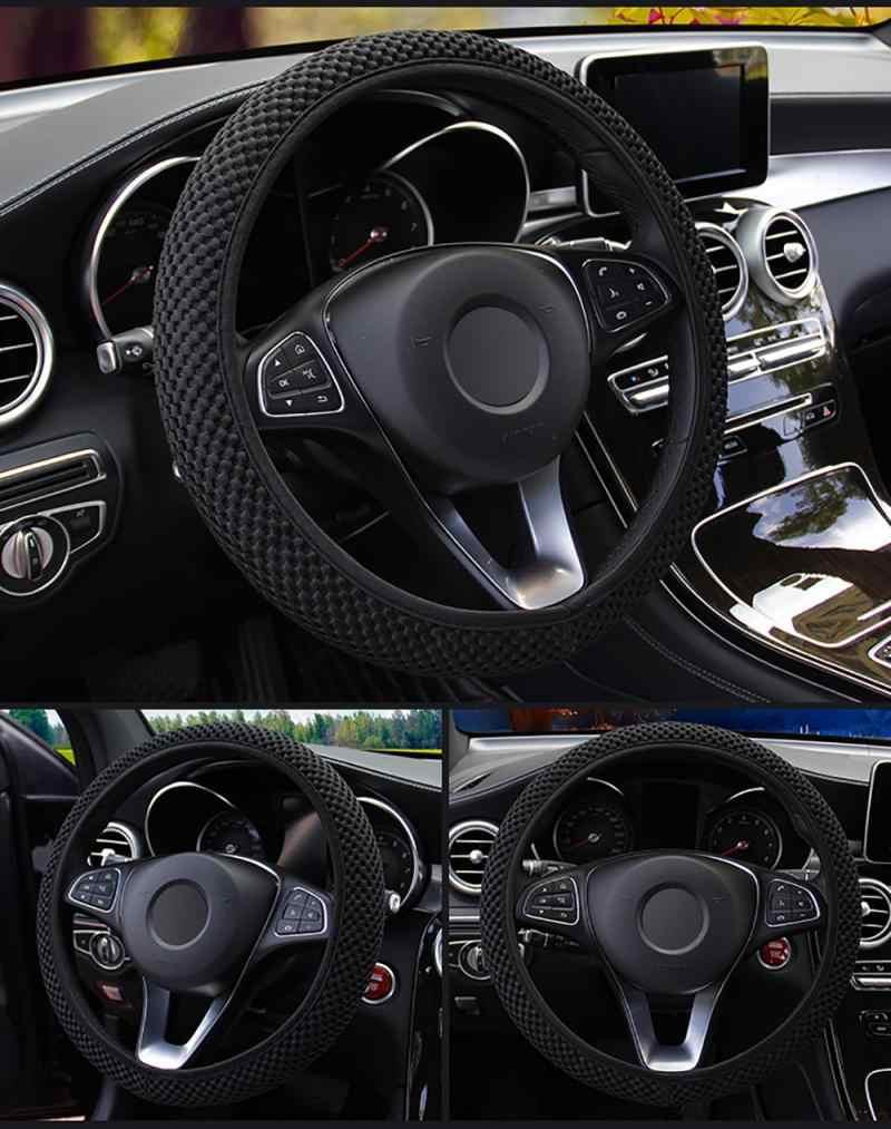 Universel 4 couleurs voiture volant couverture Sandwich tissu à la main hiver chaud volant couverture voiture accessoires pour les filles