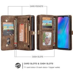 Image 2 - Luxe Lederen Tas Case Voor Huawei P30 Pro P20 Lite Flip Wallet Cover Magnetische Telefoon Tas Gevallen Voor Huawei mate 20 Pro