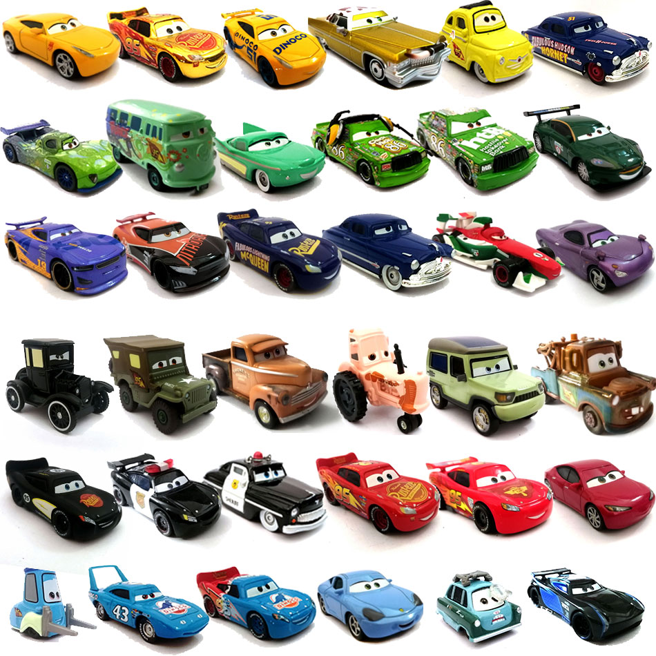 Disney Pixar Cars2 Cars3 36 Style Alloy Car Model Birthday Toys For Kids LIGHTNING McQUEEN Cartoon Models Christmas Gifts