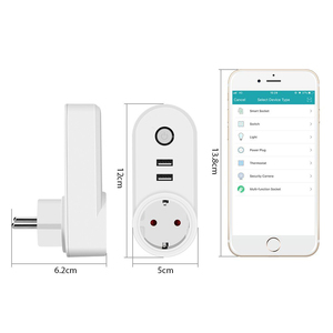 Image 2 - Smart WiFi Power Plug Outlet EU Electrical Socket with USB Smartlife App Timer Wireless Remote Control by Tuya Alexa Google Home